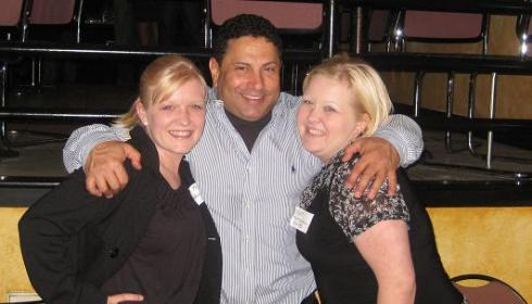 Kristin and Kat with the Owner of Cafe Pasta, Ray Essa