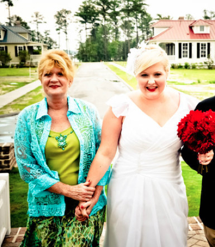 My Mom and I on my Wedding Day....